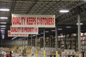 Quality Banners In a Third Party Logistics (3PL) Warehouse