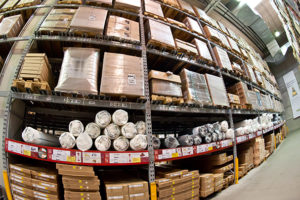 Image of Supply Chain Management in action at the warehouse level.
