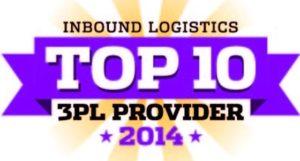 Inbound Logistics Top 10 3PL Provider Logo
