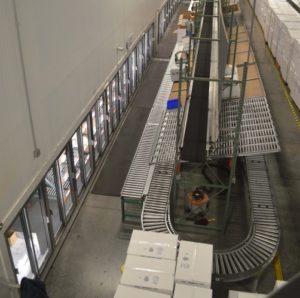 Third party logistics provider cooler doors