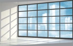 Image of a transparent window, reminiscent of supply chain transparency